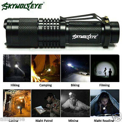 6000 Lumen CREE XML T6 Tactical Zoomable LED Flashlight Outdoor Torch Lamp
