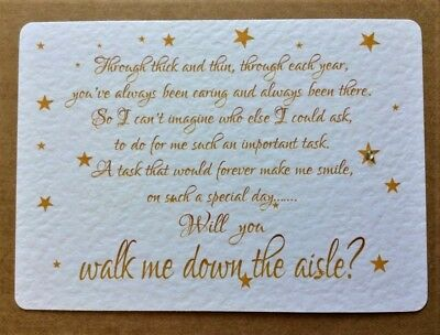 'WILL YOU BE MY' Walk me down the Aisle / Chief Bridesmaid card / invite - STAR