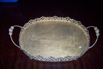 Vintage Original Victorian Large Metal Tray Primitive Late 1800'S Great Price