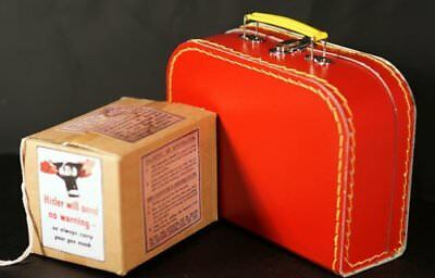 1940's-Suitcase-Gas mask Box & Label Set Perfect for Wartime/School Dressing up