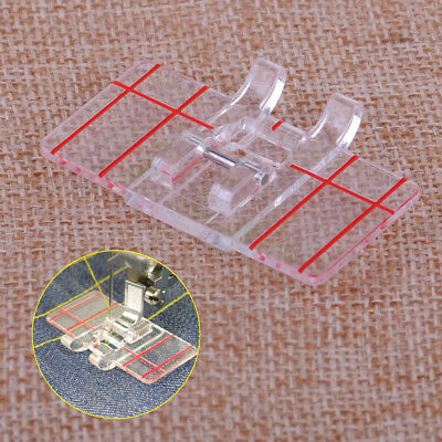 Clear Plastic Parallel Stitch Foot Feet Presser for Home Domestic Sewing Machine
