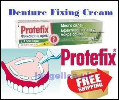 Protefix Adhesive Extra Strong Denture Fixing Cream With Aloe Vera and Neutral