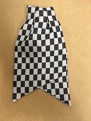 POLICE Clip On Safety Cravat Ladies Black and White Check BRAND NEW