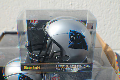Carolina Panthers Nfl Helmet Scotch Tape Dispenser Nib