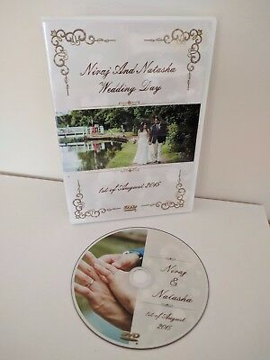 Custom made Wedding DVD/CD Single Case with printed cover and disc included