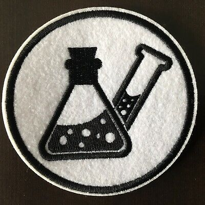 """CHEMISTRY Patch - Embroidered Iron On Patch 3 """" CHEMICAL"""