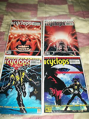 CYCLOPS #1 2 3 4 of 4 ICONS UNCANNY X-MEN VAUGHAN PALMIOTTI MARVEL COMICS B3