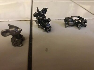 Set Of 3 Metal Miniature Animals