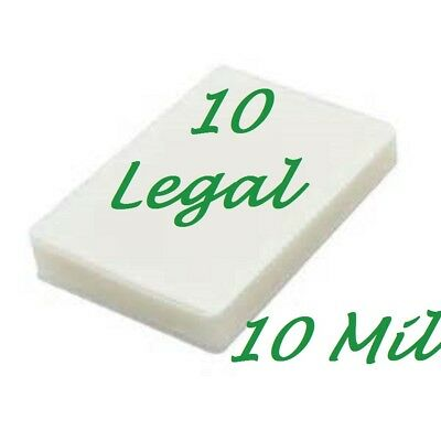 Ultra Clear 10 LEGAL SIZE  Laminating Pouches Sheets 9 x 14-1/2 10 Mil