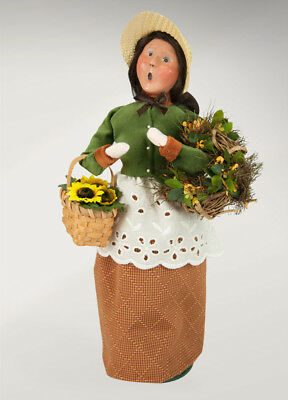 Byers' Choice - Harvest Woman With Flowers - Signed By Joyce - New 2017 Caroler