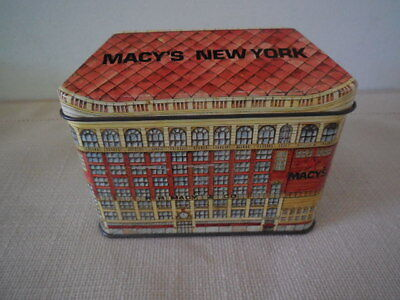 Macy's Department Store Collectible Tin - New York - Hinged Lid - Logan England