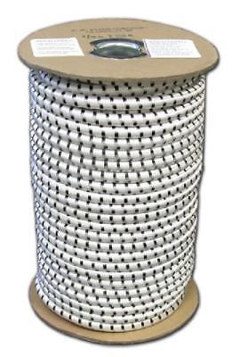 "Elastic Bungee Shock Cord Rope Cording Roll Stretch Bungie White 1/8"" X 50'"