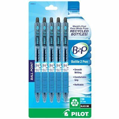 Pilot B2P - Bottle to Pen - Retractable Ball Point Pens Made from Recycled Bo...