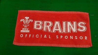 wales rugby union commemorative Brains beer mat