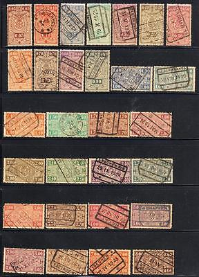 BELGIUM RAILWAY PARCEL STAMPS : More than 50 Used stamps ( 5 Scans)
