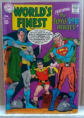 World's Finest #173, 1968,1st Silver Age appearance of Two-Face mid grade