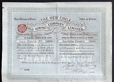 1885 Chile/England: The New Chile Gold Mining Company