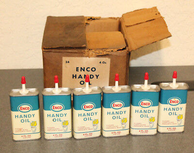 NOS New Old Stock ENCO HANDY OIL 4 oz. Household Handy Oil Can FOR ONE CAN ONLY