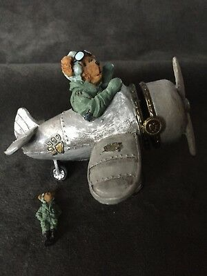 Percy's Airplane with Wings McBibble-Boyds Bears Treasure Box #4016643
