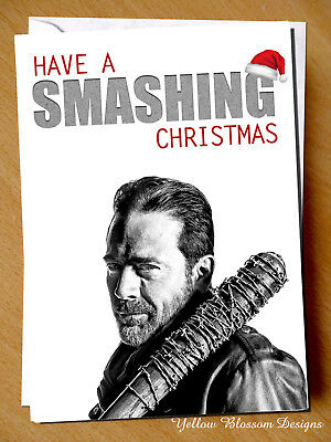 Walking Dead Christmas Smashing Card Negan Husband Wife Brother Sister Mum Dad