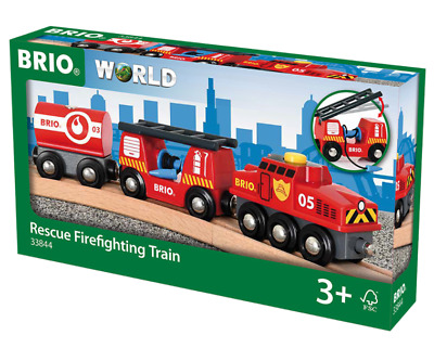 BRIO 33844 Rescue Firefighting Train toys. Brand new. Free Post with tracking