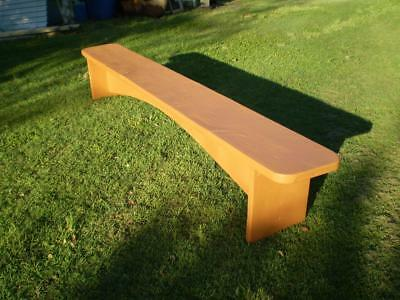 large 2.9mt timber garden or veranda bench seat very heavy pine terracota colour