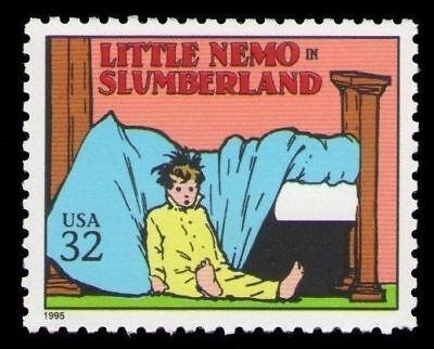 Little Nemo in Slumberland Winsor McCay 21 Year Old Mint US Postage Stamp