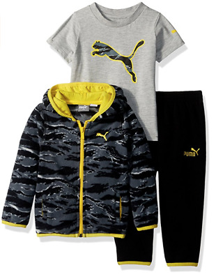 9820634c73d PUMA BOYS  3-PIECE Creepers and Pant Set -  35.10