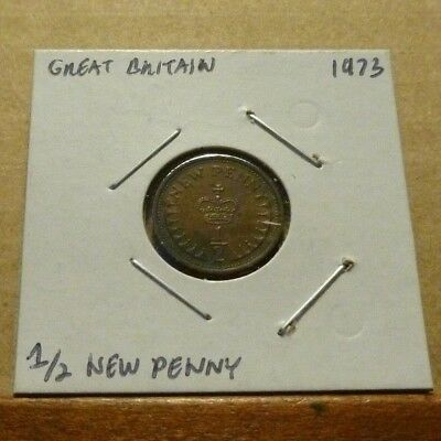 1/2 NEW PENNY COIN - 1973 - Great Britain