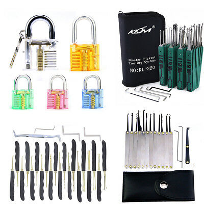 12/24/32 pcs Lock Opener Kit Practice Picking Tools Set Keys Locksmith Picks