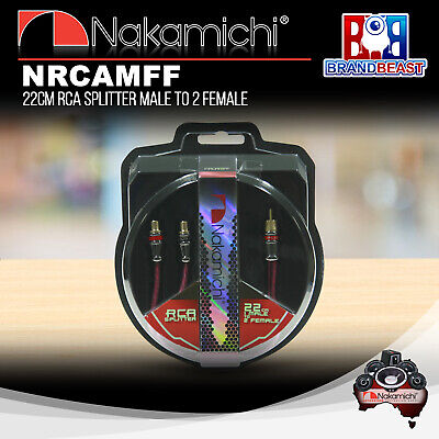 Nakamichi Nrcamff 22cm Rca Y Splitter Male To 2x Female Connector Plug Cable
