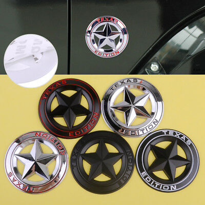3D Metal Texas Edition Star Logo Emblem Badge Sticker fit for Ford Chevy Jeep