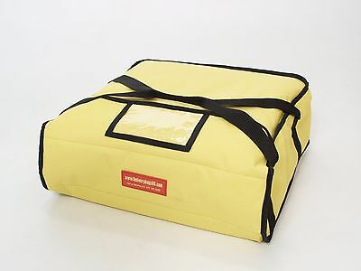 "Pizza Delivery Bags (Holds up to Three 12"" or Three 14"" Pizzas) Yellow."