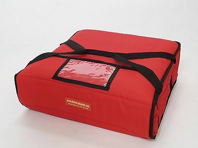 """Pizza Delivery Bags Thick Insulated (Holds up to Two 16"""" or Two 18"""" Pizzas) Red."""