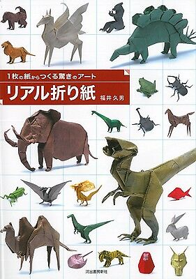 New Japanese Instraction Real Origami Craft Book Art Paper Animal Dinosaur