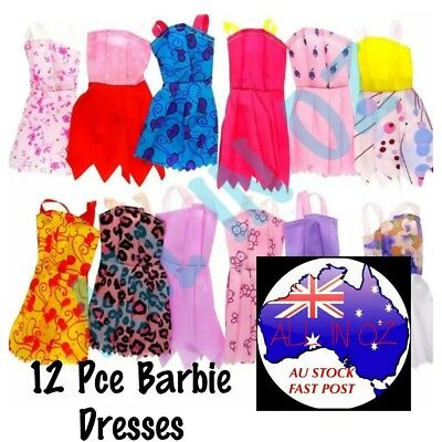 Barbie Dresses Mixed Lots Doll Kids Toys Party Outfit Gift Idea 12e