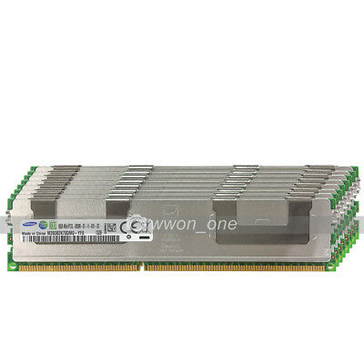 New Samsung 128GB 8X16GB 4RX4 PC3L-8500R DDR3-1066Mhz 240Pin ECC REG Server RAM