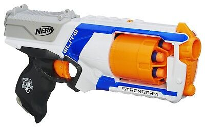 elite nerf n strike strongarm blaster gun dart 6 new darts toy fire slam kids
