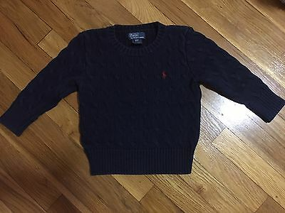 Polo Ralph Lauren Cable-Knit Cotton Sweater Size 3T Navy