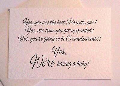 PREGNANCY ANNOUNCEMENT card - You're going to be Grandparents / Uncle-Ivory Fun
