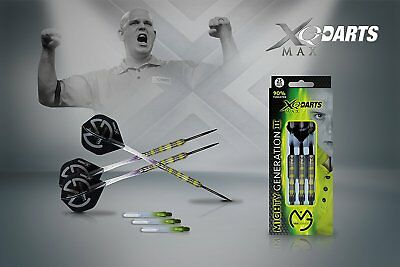 XQ MAX Michael van Gerwen Mighty Generation II Steeldarts 90% Tungsten 21/23/25g