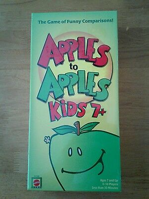Apples to Apples Kids Edition For Ages 7+ Family Card Game NEW SEALED 2007 Green
