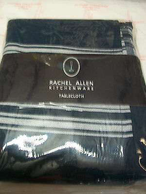 Rachel Allen Tipperary Crystal White/navy Striped Tablecloth Brand New In Pack