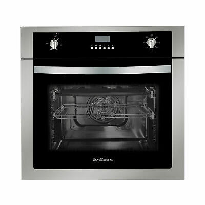 Brilcon 60cm Fan Forced Electric Built-in Wall Oven + 10amp Plug for Powerpoint