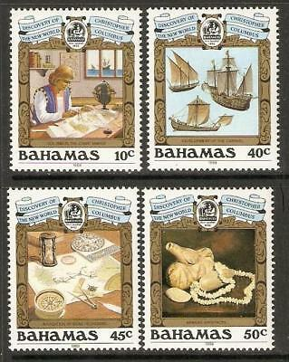 BAHAMAS SG844/7 1989 DISCOVERY OF AMERICA BY COLUMBUS 2nd ISSUE MNH