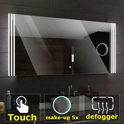 ARICA Illuminated Led bathroom mirror  | Switches | Make-up | Demister pad