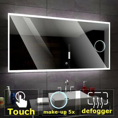BOSTON Illuminated Led bathroom mirror  | Switches | Make-up | Demister pad