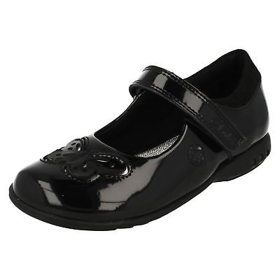 Clarks Trixi Rose Girls Shoes Black Patent With Lights G Fit (R7A)