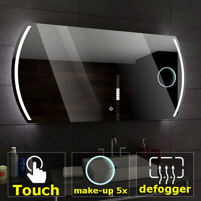 CAIRO Illuminated Led bathroom mirror  | Switches | Make-up | Demister pad