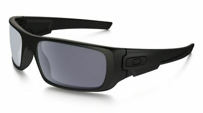 f536e34afa8 New Oakley OO9239-12 Crankshaft Sunglasses Matte Black Frame Grey Iridium  Lens